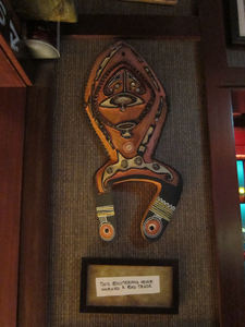 Papua New Guinea carving at Trader Sam's Enchanted Tiki Bar in Anaheim
