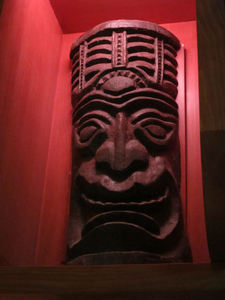 Tiki carving at Trader Sam's Enchanted Tiki Bar in Anaheim
