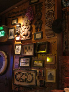 Decor at Trader Sam's Enchanted Tiki Bar in Anaheim