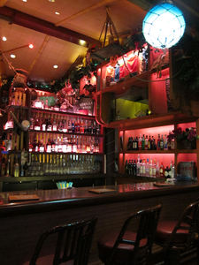 The bar at Trader Sam's Enchanted Tiki Bar in Anaheim