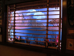 Window scene at Trader Sam's Enchanted Tiki Bar in Anaheim