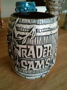 Rum barrel mug from Trader Sam's Enchanted Tiki Bar in Anaheim