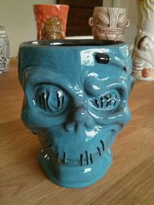 Shrunken Zombie Head mug from Trader Sam's Enchanted Tiki Bar in Anaheim