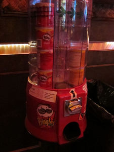 Pringles dispenser at Tiki Haven in San Francisco