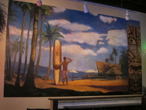 Mural at The Downtown Tiki Lounge in San Mateo