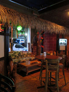 Seating area at The Downtown Tiki Lounge in San Mateo