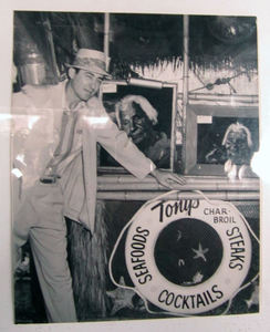 Vintage photo of Tony Trutanich at Tony's on the Pier in Redondo Beach