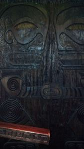 Marquesan-style carved panels at Kanaloa in London