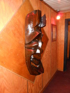 Mask in the entry way at The Breakers in Crystal Lake