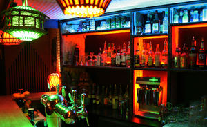 The bar at Le Tiki Lounge in Paris