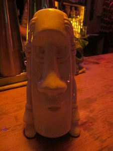 Souvenir mug designed by Ba� at Le Tiki Lounge in Paris