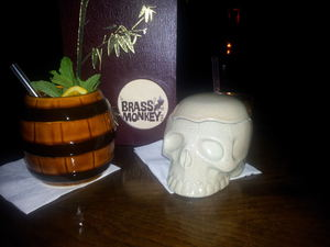 Drinks at Brass Monkey at Brass Monkey Tiki Bar in Copenhagen