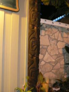 Tiki outside of Royal Hawaiian in Laguna Beach