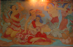Mural at Royal Hawaiian