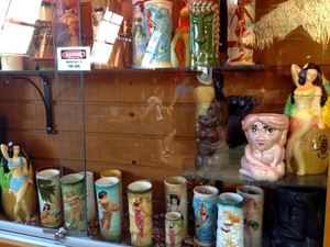 Mug collection at The Hut in Tucson