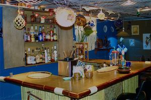 The bar at Mai Tiki Bar in Indianapolis