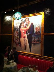 "Marlon Brando overlooking the ""Red Room"" at Adrift in Denver"