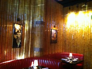 Bamboo walls at Adrift in Denver