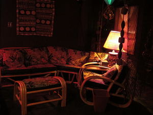 Seating area at Balhi Ha'i in San Francisco
