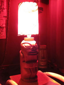 Vintage tiki lamp at Balhi Ha'i in San Francisco