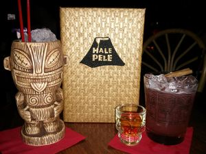 A'a'po'e (in souvenir mug) and Shrunken Skull from Hale Pele in Portland