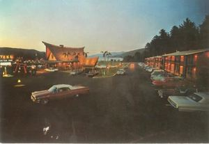 Postcard from The Tiki in Lake George