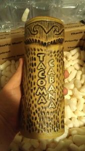Custom mug made by Rob Hawes for Tacoma Cabana in Tacoma