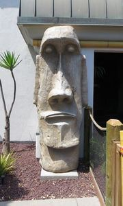 Moai at Tiki Town Adventure Golf in San Diego