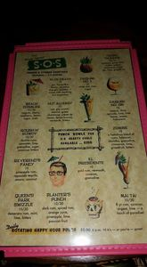 Drink menu at The S.O.S. in Decatur