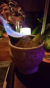 Flaming Mai Tai at The S.O.S. in Decatur