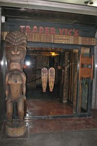 Entrance to Trader Vic's in London