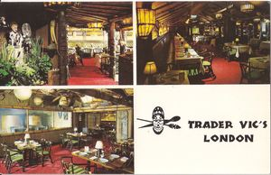 Postcard from Trader Vic's in London