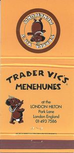 Matchbook from Trader Vic's in London