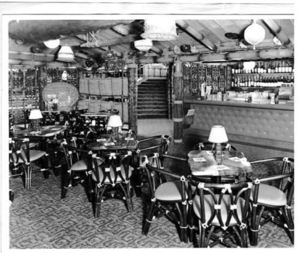 Vintage photo from the opening of Trader Vic's in London