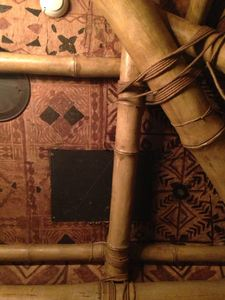 Tapa and bamboo details at Trader Vic's in London