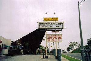 Sign for Java Lanes in Long Beach