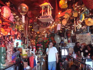 Mark Buhen behind the bar at Tiki-Ti in Los Angeles