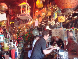 Mike Buhen, Jr. and Mark Buhen behind the bar at Tiki-Ti in Los Angeles