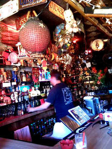 The bar at Tiki-Ti in Los Angeles
