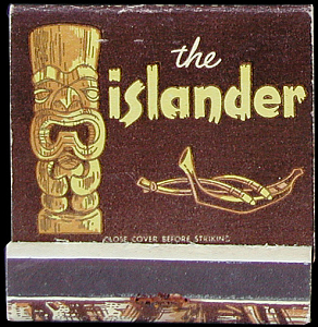 Matchbook from the Islander in Los Angeles