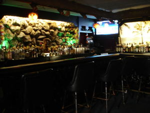 The bar at Lee's Hawaiian Islander in Lyndhurst