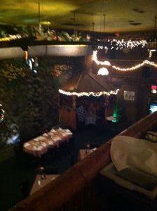 View of hut from balcony at Lee's Hawaiian Islander in Lyndhurst